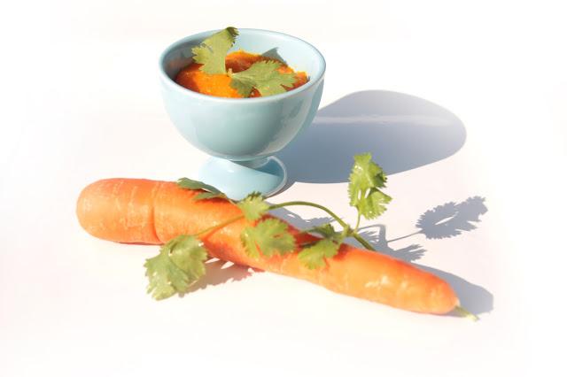 puree bebe carotte coriandre recette sans protéine de lait de vache