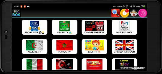تحميل تطبيق One Box Tv لمشاهدة القنوات المشفرة و الافلام الحصرية مجانا على الاندرويد
