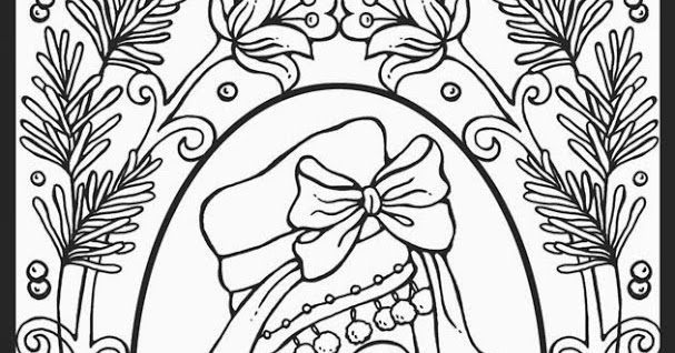 Shoe Ornament Christmas Coloring Pages