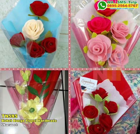 Buket Bunga Flanel Handmade