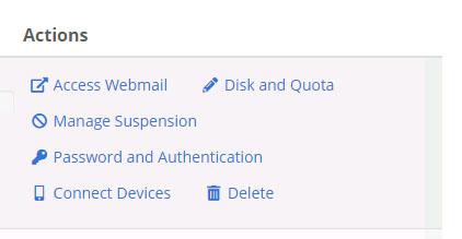 Tindakan akun email