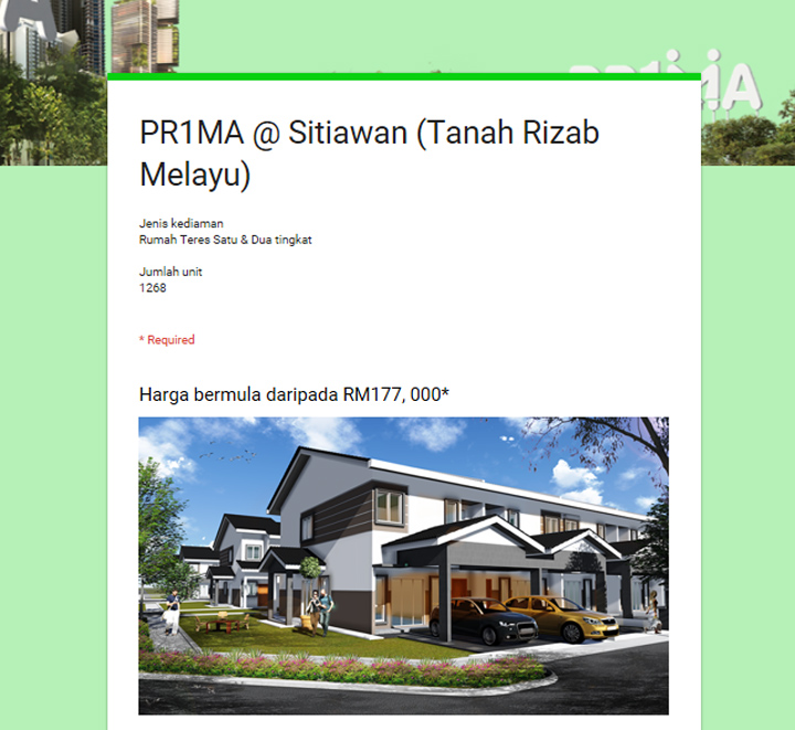 Peluang Miliki Rumah PR1MA di Perak