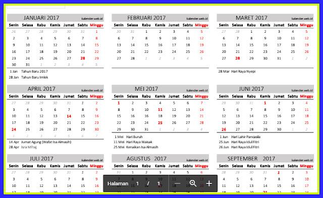 Download Aplikasi Kalender 2017 Lengkap Dengan Hari Besar Dan Libur Nasional