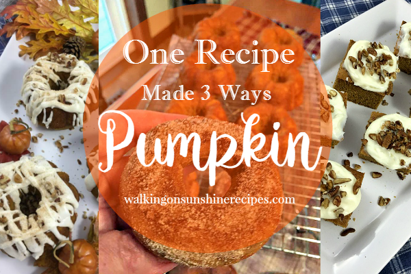 How to Make the Best Pumpkin Spice Cake Dessert from Walking on Sunshine Recipes