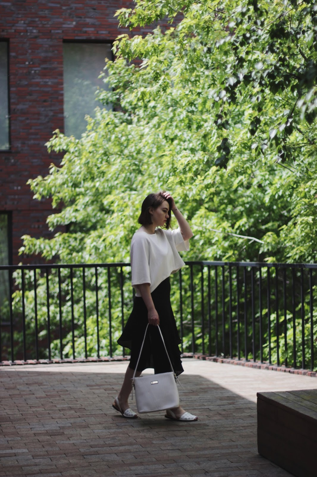 Black and white outfit | Fashion blogger