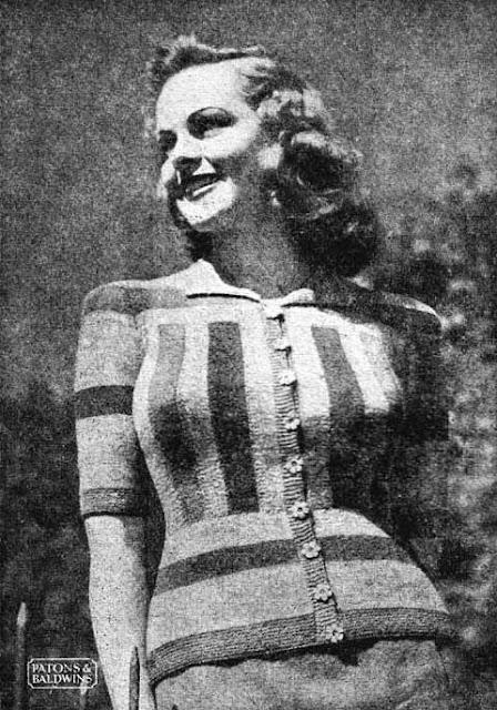 The Vintage Pattern Files: Free 1940's Knitting Pattern - Gwen Cardigan