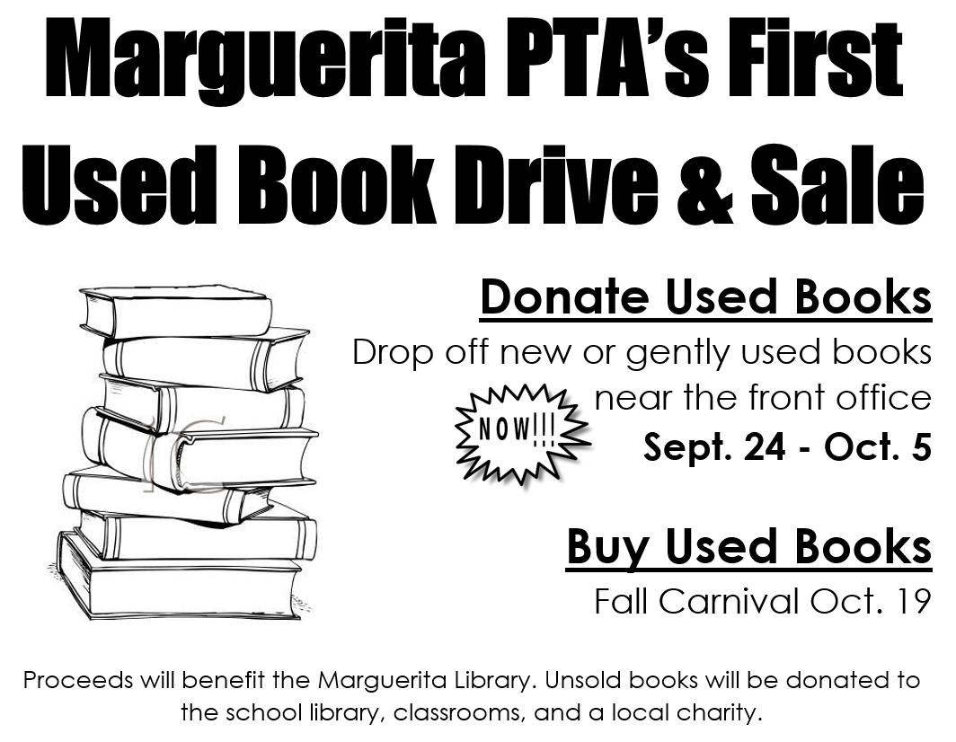 Marguerita Elementary PTA: September 2018