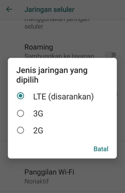 Kunci Jaringan 4G
