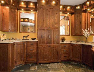 memang terbuat dari kayu yang sudah didekorasi memakai cat untuk meningkatkan selera p 46 Desain Interior Dapur Kayu Modern dan Stylish