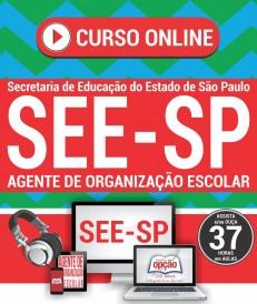 Curso Online Agente de Organização Escolar SEE SP concurso 2018