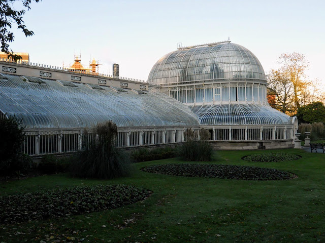 Belfast points of interest: the Victorian greenhouse at the Botanical Garden at Queens University Belfast