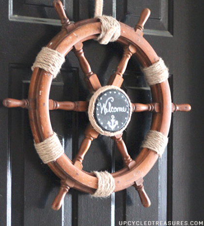 welcome ship wheel