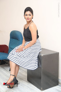 Telugu Actress Kruthika Jayakumar Stills in Short Dress at Intlo Deyyam Nakem Bhayam Success Meet  0231.JPG