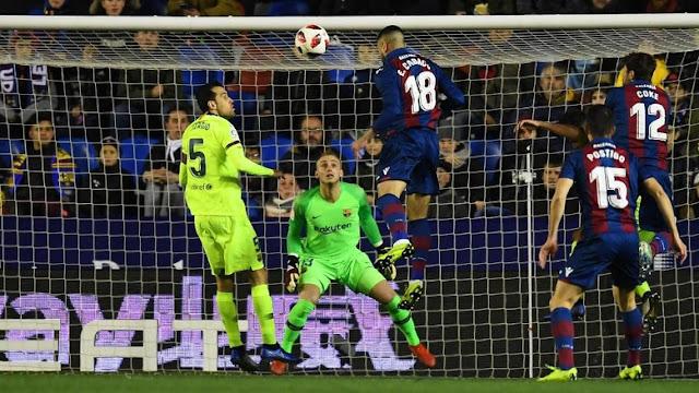 Hasil Copa del Rey: Tanpa Messi-Suarez, Barcelona Dikalahkan Levante