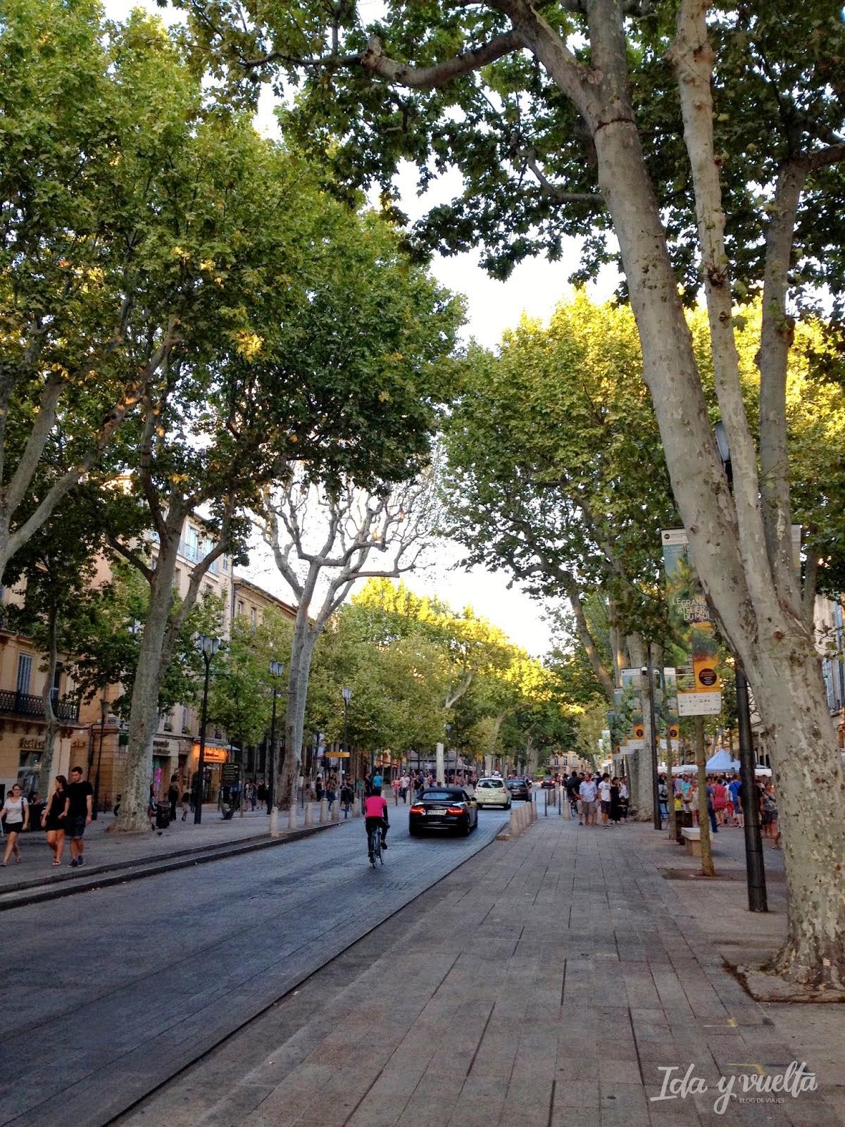 Corso Mirabeau en Aix-en-Provence
