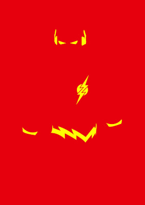 cartel minimalista  de super héroe Flash