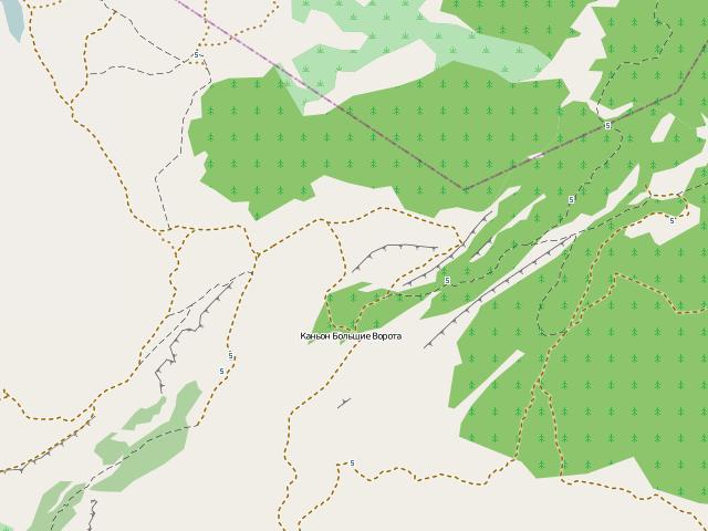 Карта OpenStreetMap разновидности Standart, Classic или Mapnik