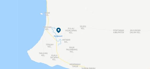 Lokasi Taman Mangrove Mempawah