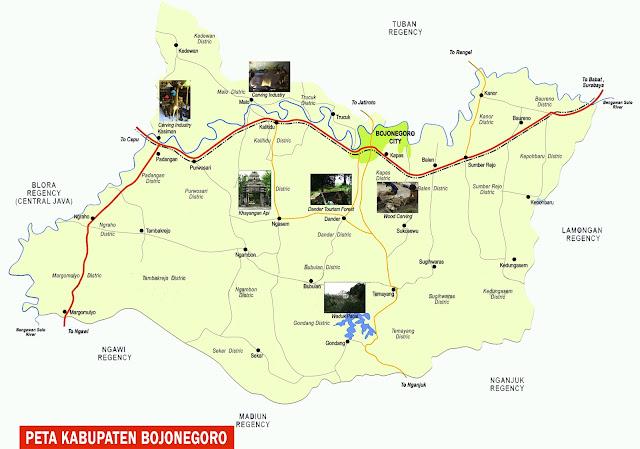 Gambar Peta Kabupaten Bojonegoro