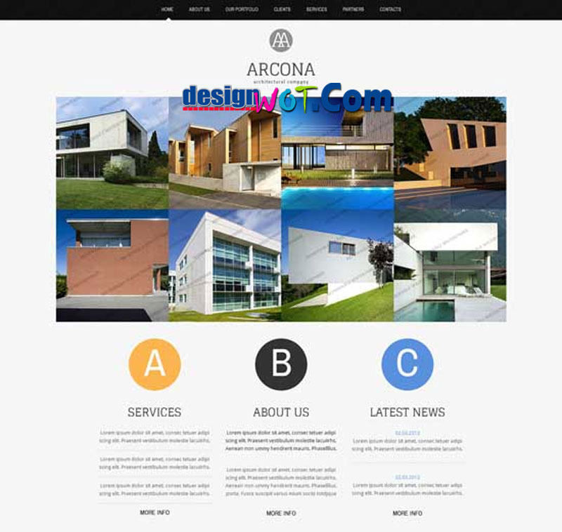 ARCONA Responsive HTML WordPress Template