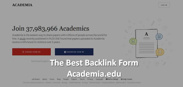Teknik Membangun Backlink Berkualitas Dari Academia.Edu