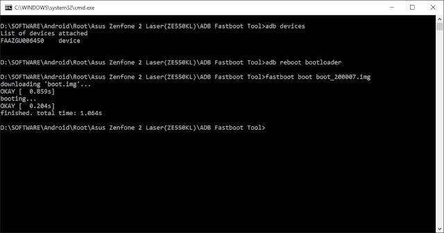 Cara Unlock Bootloader dan Root Asus Zenfone 2 Laser