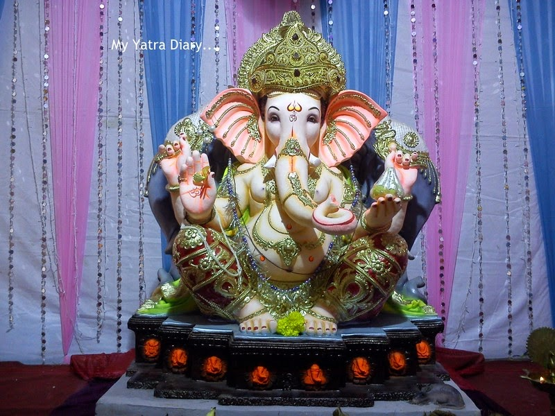 Ganpati with Ashtavinayaka theme at Mumbai Ganesh Pandal Hopping, during Ganesh Chaturthi