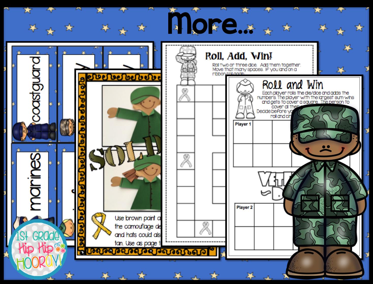 1st Grade Hip Hip Hooray Veterans Day