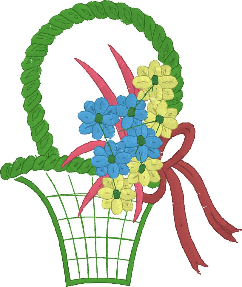 Free Flower Basket Embroidery Designs : Download free basket with flowers embroidery