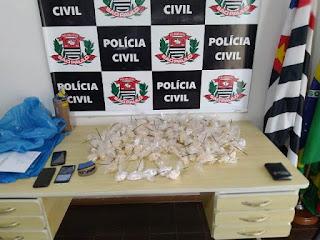 Polícia Civil de Registro-SP prende um traficante e apreende uma adolescente em Sete Barras