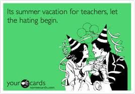 It's vacation for teacher's let the hating begin - teachers in party hats and drinks in hands