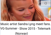 VG-SOMMER-SHOW - SANDRA LYNG - VIDEO! 2015