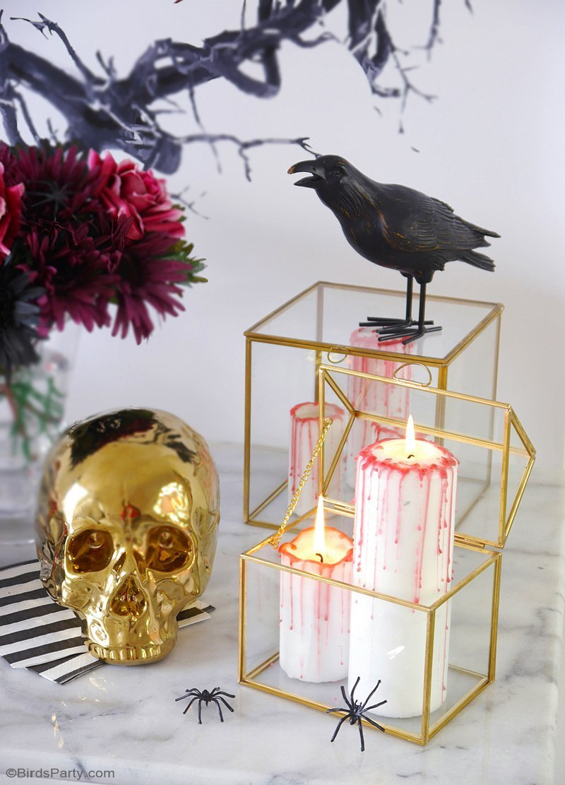 DIY Halloween Bloody Candles