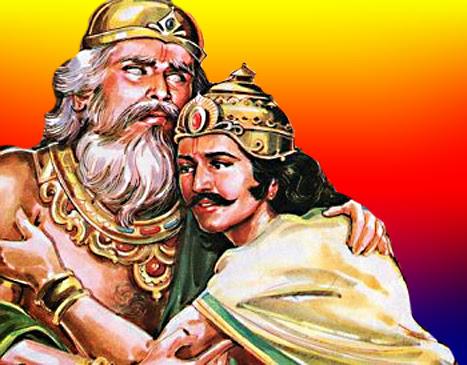 Dhritarashtra and Duryodhana