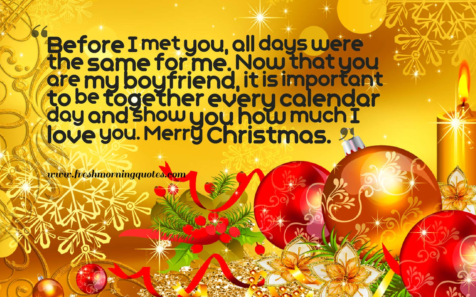 Heart Touching Christmas Love Messages for boyfriend