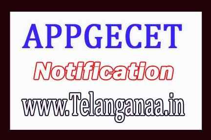 Andhra Pradesh PGECET Notification 2018 AP PGECET Notification 2018