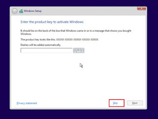 input windows 10 product key