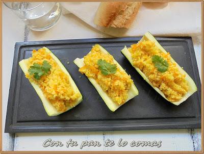 Calabacines rellenos de Couscous