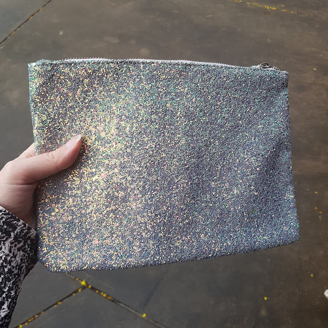 Kmart glitter clutch | Almost Posh