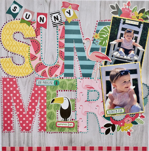 Sunny Summer Scrapbookingstore July 2018 Kit Life With Evi