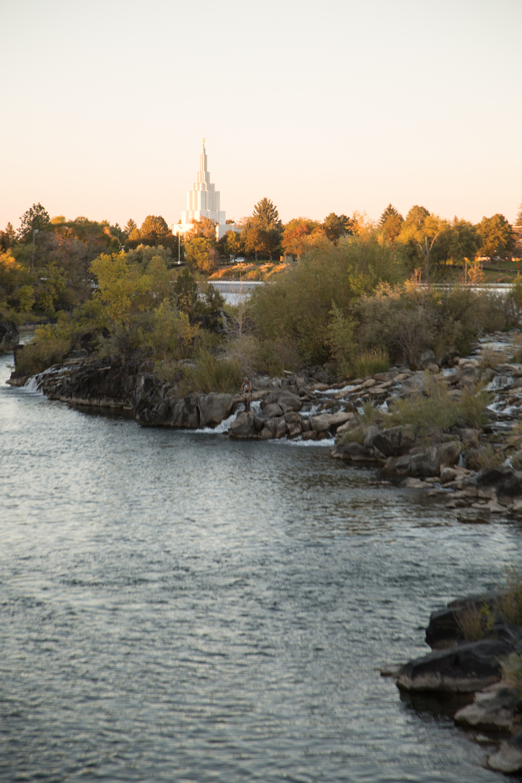 Downtown Idaho Falls during Autumn