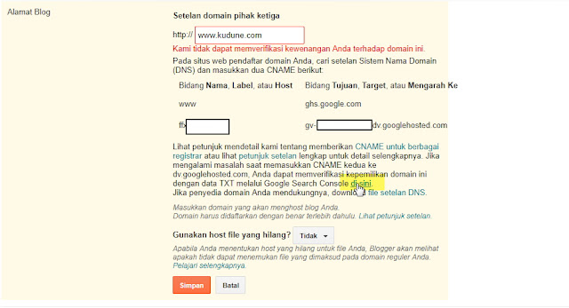 Cara Mengatasi we have not been able to verify your authority to this domain