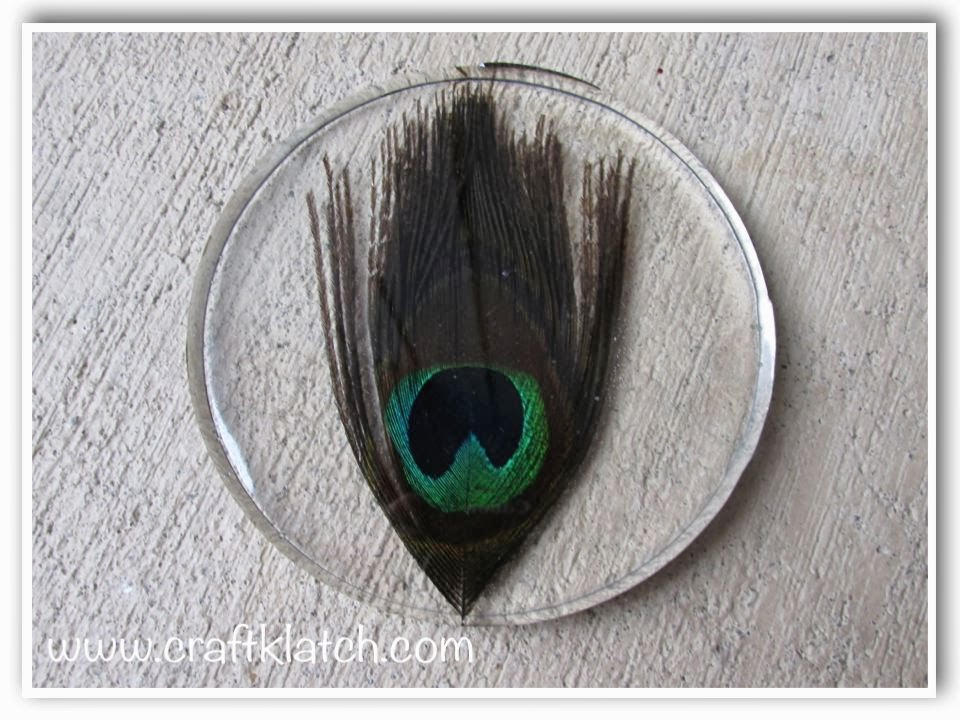 Craft Klatch Diy Peacock Feather Coaster Another Coaster Friday