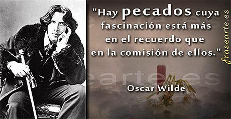 Frases sobre los pecados - Oscar Wilde