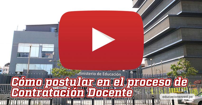 MINEDU: Sepa cómo postular al proceso de Contratación Docente 2020 (REQUISITOS) www.minedu.gob.pe