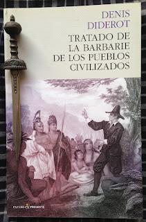 Portada del libro Tratado de la barbarie de los pueblos civilizados, de Denis Diderot