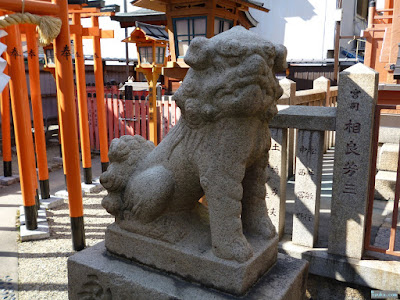 東成区中道の八阪神社玉造戎神社狛犬