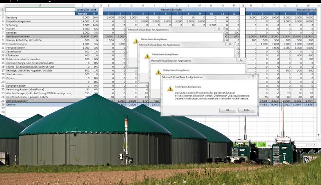 Biogasanlagen - Dokumentation über Ecxel - BT-IT GmbH - Ralf Ebken®