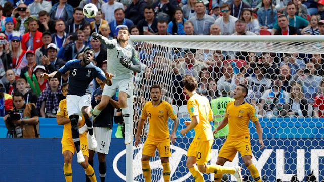 Hasil Perancis vs Australia Skor Akhir 2-1 | Fase Group C World Cup 2018