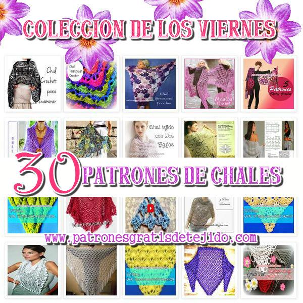Colección de 30 patrones de chales tejidos